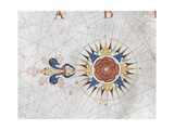 Compass Rose from a Portolan Chart, 1670 Giclee Print by Charles Massey