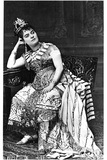 Helena Sanz (1849-98) as Amneris in 'Aida' by Giuseppe Verdi (1813-1901) Photographic Print by Ferdinand Mulnier