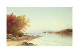 Narragansett Bay, Autumn, Rhode Island Giclée-tryk af Alfred Thompson Bricher