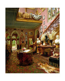 The Hall and Staircase of a Country House, 1888 Giclee Print by Jonathan Pratt