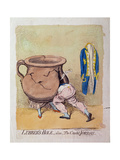 Lubber's-Hole, Alias, the Crack'D Jordan, Published by Hannah Humphrey in 1791 Giclee Print by James Gillray