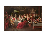 Belshazzar's Feast Giclee Print by Frans The Elder Francken