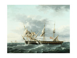Naval Engagement Between Uss Wasp and Hms Frolic, C.1815 Giclee Print by Thomas Birch