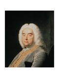 George Frederick Handel (1685-1759) (Detail) Giclee Print by Thomas Hudson