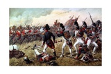 The 3rd Regiment of Foot Guards Repulsing the Final Charge of the Old Guard at the Battle of… Giclee Print by Richard Simkin