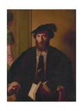 Portrait of Amerigo Vespucci (1452-1512) Giclee Print by  Titian (Tiziano Vecelli)
