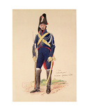 Elite Soldier of the Imperial Guard During the Cent-Jours Giclee Print by E. Fort