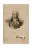 Portrait of Georges Danton (1759-94) Giclee Print by Francois Seraphin Delpech