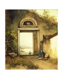 View of Praya Grande, Macao, from a Doorway on Penha Hill, 1834 Giclee Print by George Chinnery