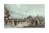 Bowling, Engraved by James Clements Giclee Print by James Clements