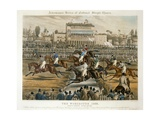 The Royal Birthday Stakes, Worcester, March 14th 1856: Grand Stand Giclee Print by Charles Hunt