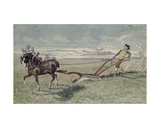 God Speed the Plough Giclee Print by Charles Altamont Doyle