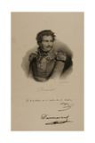 Portrait of Baron Pierre Yriex Daumesnil (1777-1832) Giclee Print by Francois Seraphin Delpech