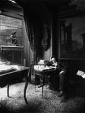 Victorien Sardou (1831-1908) Reading the Newspaper Photographic Print by  Dornac