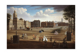 A View of the West Front of Horse Guards with the Treasury and Downing Street Beyond, C.1758 Giclee Print by Samuel Wale