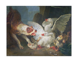 A Dog Attacking Geese, 1769 Giclee Print by Jean-Baptiste Huet