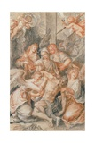 Pieta with Angels and Putti, 1607 Giclee Print by Joseph Heintz