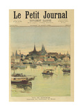 View of Bangkok, from 'Le Petit Journal', 12th August 1893 Giclee Print by Henri Meyer