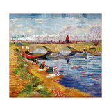 The Gleize Bridge over the Vigneyret Canal, Near Arles Giclee Print by Vincent van Gogh