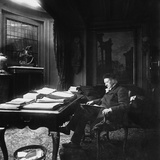 Victorien Sardou (1831-1908) at His Desk Photographic Print by  Dornac