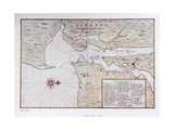 Map of Manhattan, North America, 1639 Giclee Print by Johannes Vingboons