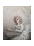 A Lady, Seated at a Table Writing a Letter Giclee Print by Richard Cosway