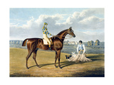 'Barefoot', Winner of the St Leger, Engraved by Thomas Sutherland (1785-1838), 1823 Giclee Print by John Frederick Herring I