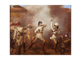 Captain Charles John Stanley Gough (1832-1912) During the Indian Mutiny at Khurkowhah on 15th… Giclee Print by Chevalier Louis-William Desanges