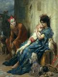 Gustave Doré - Les Saltimbanques, 1874 Digitálně vytištěná reprodukce