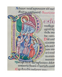 Historiated Initial 'B', Psalm 40, St. Alban's Psalter, C.1123 Giclee Print by  The Alexis Master
