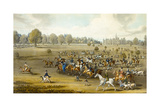 Coursers Taking the Field at Hatfield Park, Engraved by James Pollard (1797-1867) Giclee Print by James Pollard