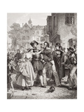 The Press Gang Seizing a Waterman on Tower Hill on the Morning of His Marriage Day, from… Giclee Print by Alexander Johnston