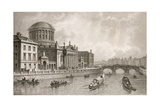 The Four Law Courts, Dublin, Engraved by Owen Giclee Print by William Henry Bartlett