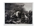 Napoleon (1769-1821) at the Battle of Waterloo, 1815 Giclee Print by Charles Auguste Steuben