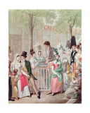 The Terrace of the Cafe De La Rotonde in 1814 Giclee Print by Georg Emanuel Opitz
