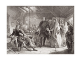 The First Meeting of Prince Charles and Flora Macdonald on the Island of South Uist, 1747, from… Giclee Print by Alexander Johnston