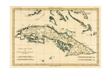 Cuba, from 'Atlas De Toutes Les Parties Connues Du Globe Terrestre' by Guillaume Raynal (1713-96)… Giclee Print by Charles Marie Rigobert Bonne