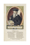 Image of Gerard Mercator (1512-94) from 'Atlas Sive Cosmographicae Mediationes...' Giclee Print by Gerardus Mercator