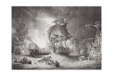 The Battle of the Nile, 1 August 1798, from 'Illustrations of English and Scottish History'… Giclee Print by George Arnald