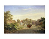 Gut Grabau, Near Oldesloe, 1841 Giclee Print by Johann Georg Haeselich