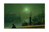 On the Clyde, Glasgow, 1879 Giclee Print by John Atkinson Grimshaw