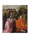 Healing of St. Bonaventure by St. Francis of Assisi, C.1628 Giclee Print by Francisco Herrera