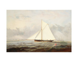 A Cutter Yacht Off Ryde Giclee Print by Arthur Wellington Fowles
