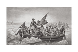 Washington Crossing the Delaware Near Trenton, New Jersey, Christmas 1776, from 'Illustrations of… Giclee Print by Emanuel Gottlieb Leutze