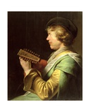 Young Man Playing the Lute Giclee Print by Jan The Elder Lievens
