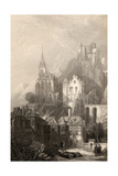 Trarbach, Engraved by E.I. Roberts, Illustration from 'The Pilgrims of the Rhine' Published 1840 Giclee Print by David Roberts