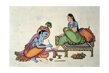 Radha and Krishna Giclee Print by  Indian School