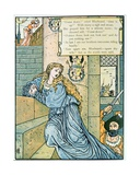 'O Sister Anne, Do You Nothing See', Illustration for 'Bluebeard' by Charles Perrault (1628-1703) Giclee Print by Walter Crane