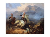 Kozietulski at the Battle of Somosierra in 1808, 1855 Giclee Print by Henryk Pillati