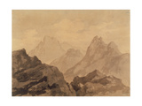Mountain Tops (A Mountain Study), C.1780 ジクレープリント : アレクサンダー・カズンズ